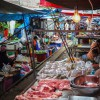 Meat stalls are much more hi-tech.