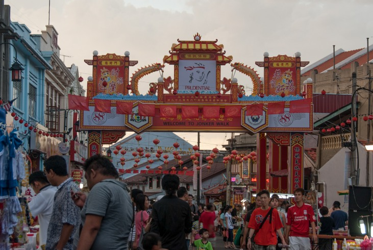 The heart and soul of Chinatown – Jonker Street – vibrates with life.