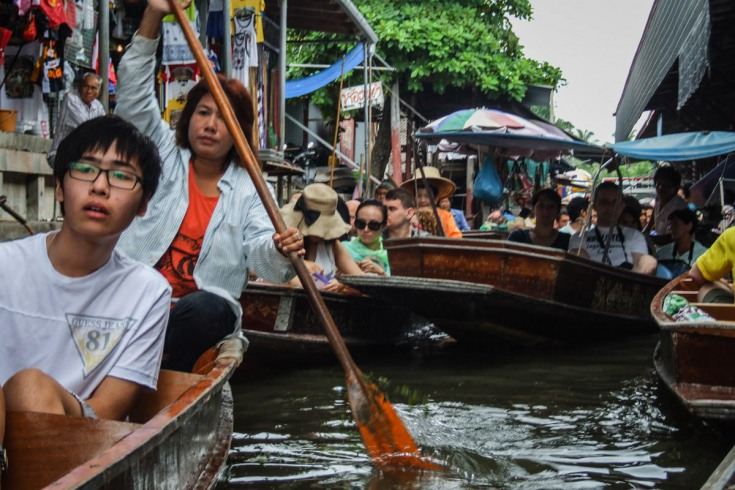 getting stuck in a traffic jam in the middle of one of the khlongs is kind of exciting.