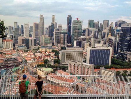 The Pinnacle@Duxton – widok z lotu ptaka na Singapur